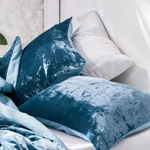 Blue velvet pillow cases from Urban Outfitters